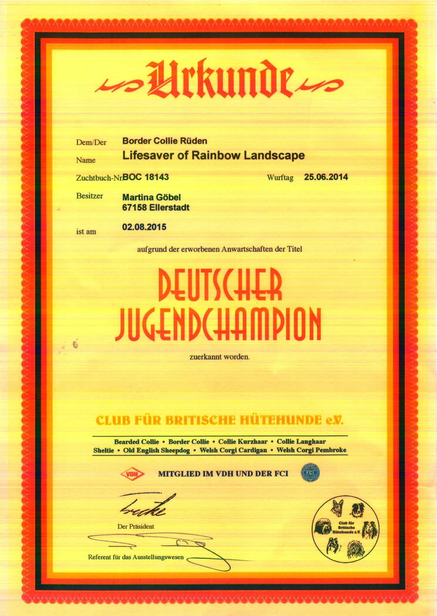 Jugendchampion Club 1